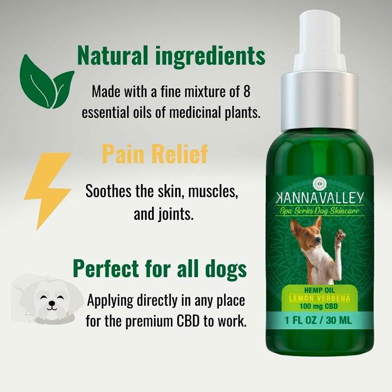 Ingredientes naturales de aceite de CBD para perros